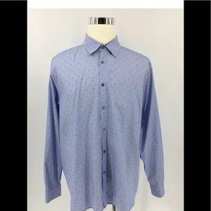 Ted Baker London Men's  Button Up Shirt Size 17,5